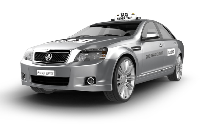silver service luxury taxi cab